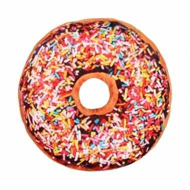 Bed kussen bruine donut knuffel