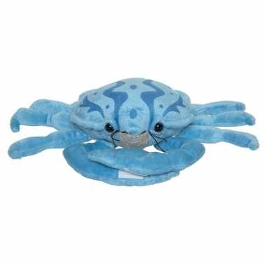 Blauwe knuffel krab