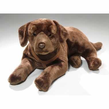 Bruine knuffel labrador hond