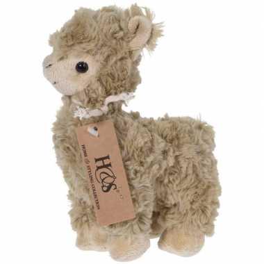 Bruine pluche alpaca/lama knuffel