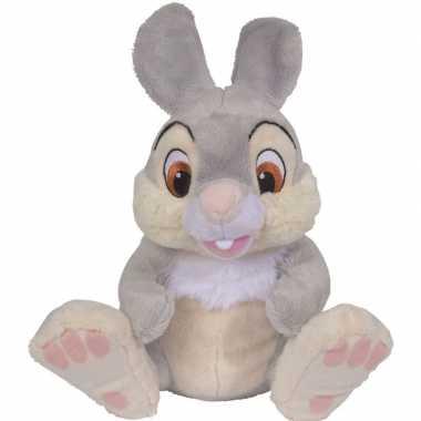 Cartoon knuffels disney stampertje konijn grijs