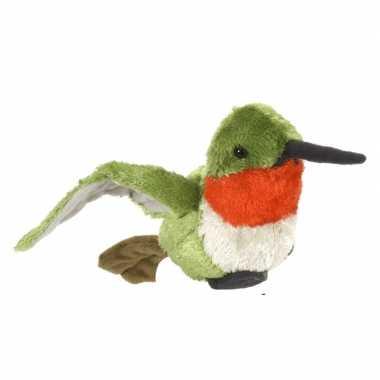 Dieren knuffels vogel kolibrie oehoe gekleurd