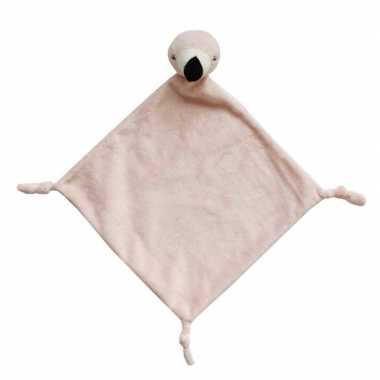 Dierenknuffel flamingo roze tuttel