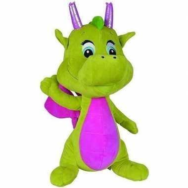 Draken knuffel safiras groen