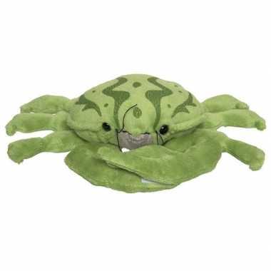 Groene knuffel krab