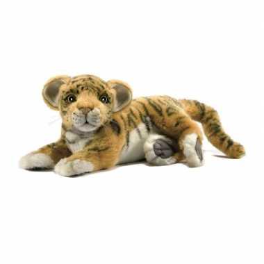 Hansa pluche tijger welp knuffel liggend