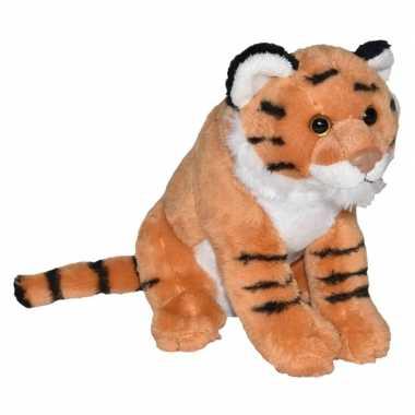 Jungledieren knuffels tijger bruin