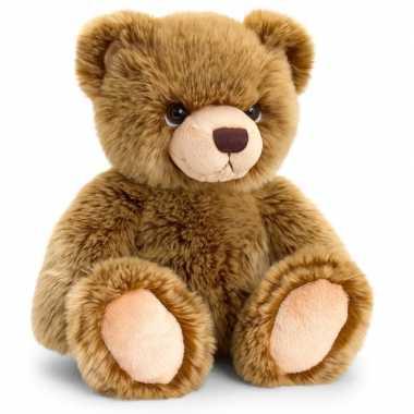 Keel toys pluche donkerbruine beren knuffel