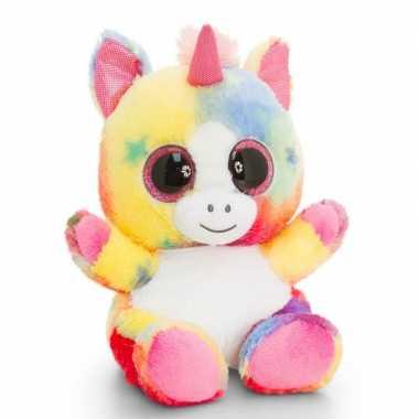 Keel toys pluche eenhoorn knuffel gekleurd