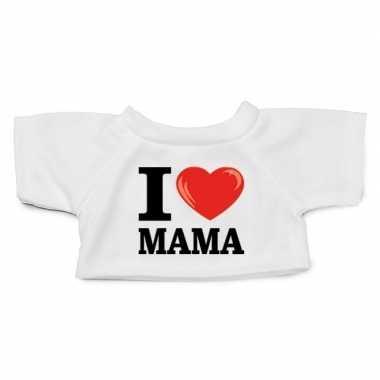Knuffel kleding i love mama t shirt wit m clothies knuffel
