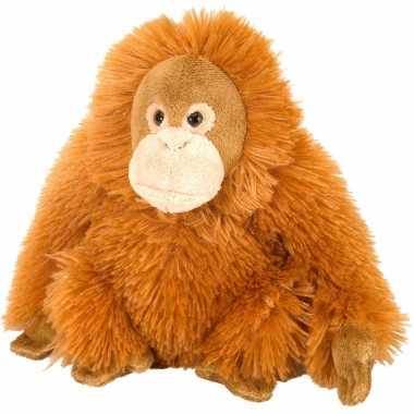 Knuffel pluche orang utan oranje