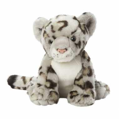 Lichtgrijs gevlekte luipaarden knuffel