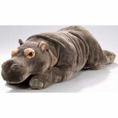 Liggende pluche knuffel nijlpaard