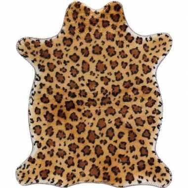 Luipaard nep dierenvel kleed/plaid knuffel