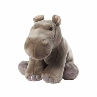 Nijlpaard knuffel kraalogen