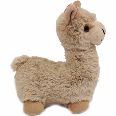 Pluche beige alpaca/lama knuffel staand