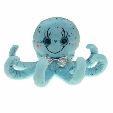 Pluche blauwe octopus inktvis knuffel