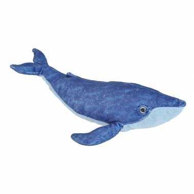 Pluche blauwe walvis knuffel