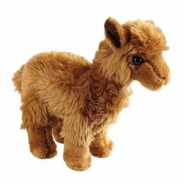 Pluche bruine lama/alpaca knuffel