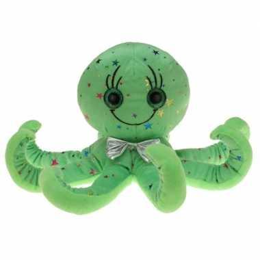 Pluche groene octopus/inktvis knuffel
