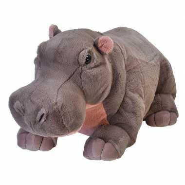 Pluche grote nijlpaard knuffel