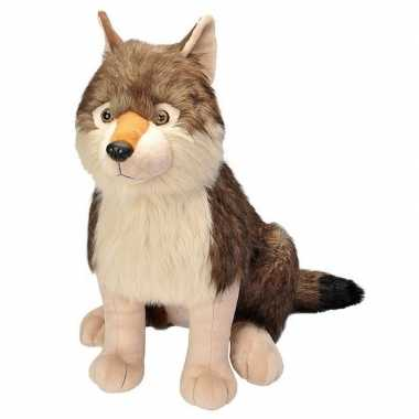 Pluche grote wolf knuffel