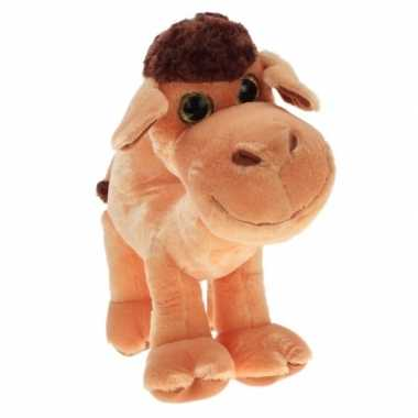Pluche kameel knuffel glitterogen