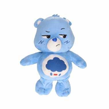 Pluche troetelbeertje knuffel blauw
