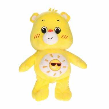 Pluche troetelbeertje knuffel geel