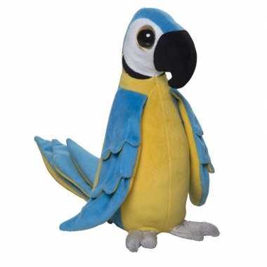 Pluche vogel knuffel papagaai