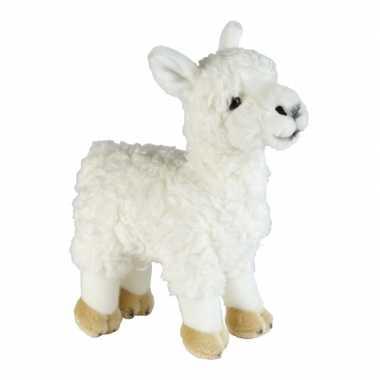 Pluche witte lama/alpaca knuffel