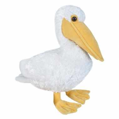 Pluche witte pelikaan knuffel