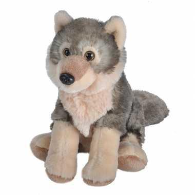 Pluche wolf knuffel