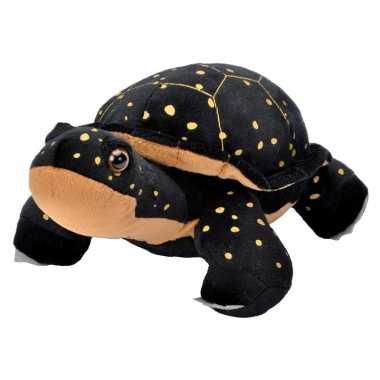 Pluche zwarte schildpadden knuffel