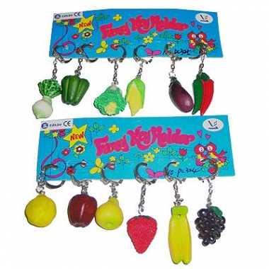 Sleutelhanger groente fruit  knuffel