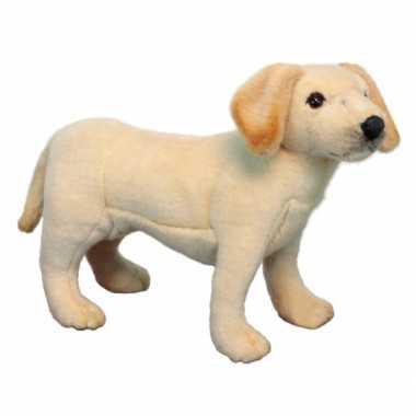 Staande pluche Labrador puppy  knuffel