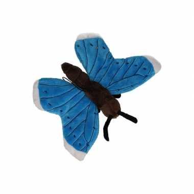 Vlinder knuffeltje blauw