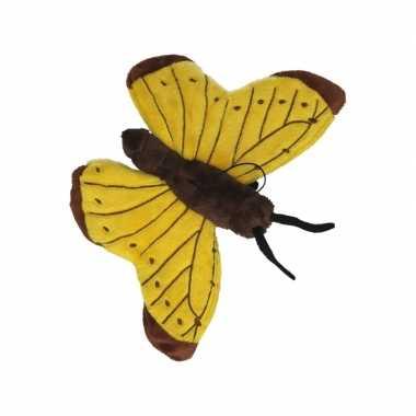 Vlinder knuffeltje geel