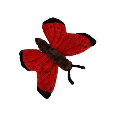 Vlinder knuffeltje rood