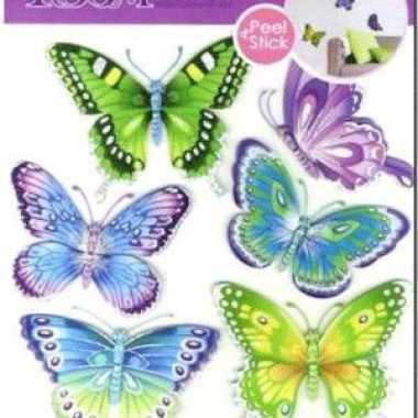 Vlinder versiering stickers  knuffel