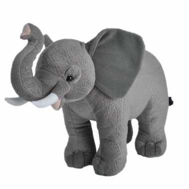 Wilde dieren knuffels afrikaanse olifant grijs
