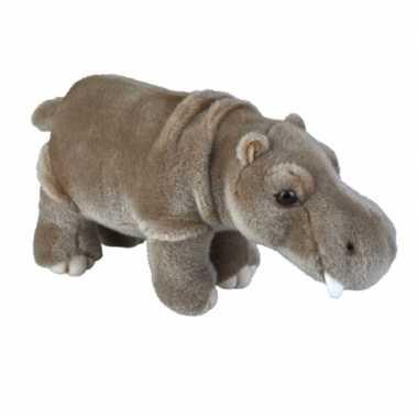 Wilde dieren knuffels nijlpaard grijs