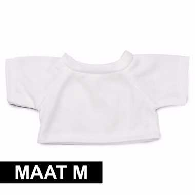 Wit clothies knuffel shirtje m ruimte boodschap