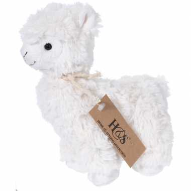 Witte pluche alpaca/lama knuffel