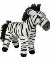 Afrikaanse dieren knuffels zebra bruin