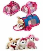 Barbie honden draagtas witte poedel knuffel