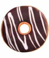 Bed kussen chocolade donut knuffel