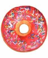 Bed kussen gekleurde donut roze knuffel