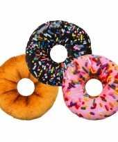 Bed kussen roze donut knuffel 10087680