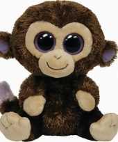 Bosdieren knuffels aap bruin ty beanie coconut